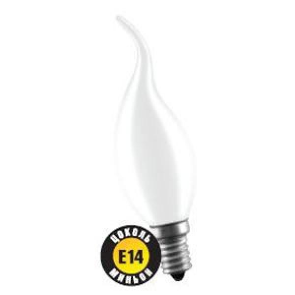 Лампа накаливания Navigator NI-FC-60Вт-230В-E14-FR матов. свеча на ветру (10/100) купить оптом и в розницу