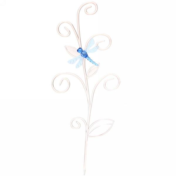 Держатель для комнатных растений пластиковый ″Стрекоза на ветке″ прозр/голуб купить оптом и в розницу
