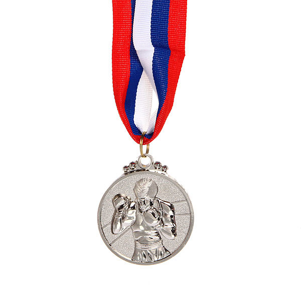 Медаль ″Бокс″ - 2 место (5см) купить оптом и в розницу