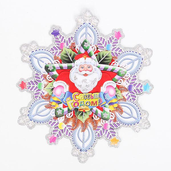 Плакат новогодний 36 см Cнежинка купить оптом и в розницу
