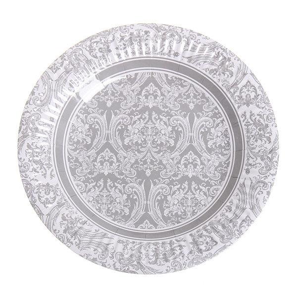 Тарелка бумажная 18 см в наборе 10 шт ″Цветы″ 09 купить оптом и в розницу