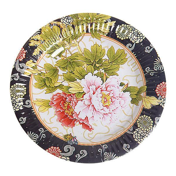 Тарелка бумажная 18 см в наборе 10 шт ″Цветы″ 11 купить оптом и в розницу
