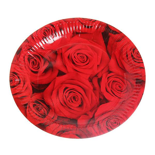 Тарелка бумажная 23 см в наборе 10 шт ″Цветы″ 04 купить оптом и в розницу