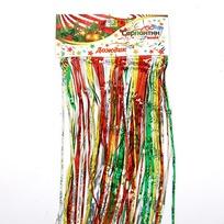 Дождик 1,5м ″Радуга″ цветной тонкий купить оптом и в розницу