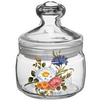 Банка для продуктов стеклянная CESNI 500мл с крышкой ″Букетик″ купить оптом и в розницу