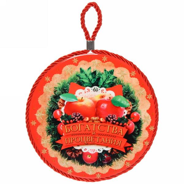 Подставка под горячее керамика 16 см ″Богатства и процветания!″, Яблочный праздник купить оптом и в розницу