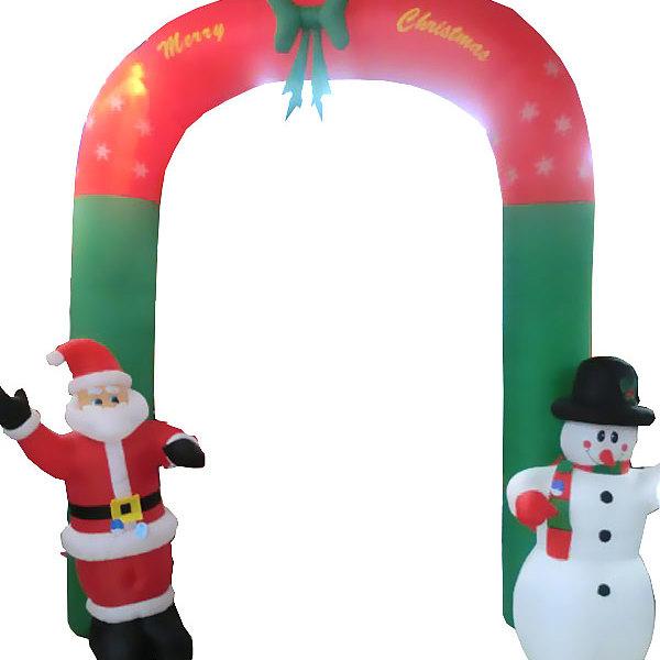 Фигура надувная ″Ворота с Дед Морозом и снеговиком″ 3м купить оптом и в розницу