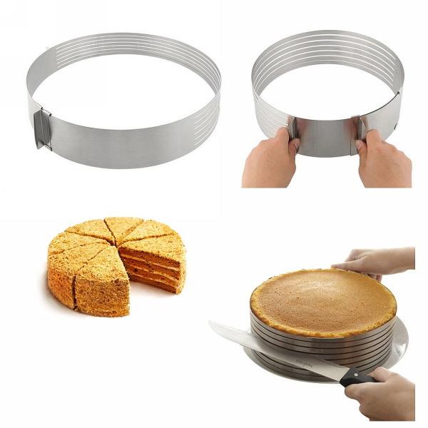 Кулинарная форма для слоеных блюд круглая регулируемая 15-20 см купить оптом и в розницу