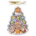 Плакат новогодний 42*35 см Елка Новый Год купить оптом и в розницу