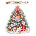 Плакат новогодний 55*34 см Елка Дед Мороз и ангелы купить оптом и в розницу