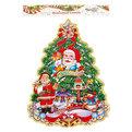 Плакат новогодний 55*34 см Елка Дед Мороз с олененком купить оптом и в розницу