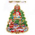 Плакат новогодний 70*55 см Елка Дед Мороз с олененком купить оптом и в розницу