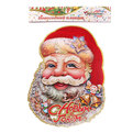 Плакат новогодний 30*23 см Дед Мороз с белочкой купить оптом и в розницу