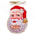 Плакат новогодний 39*30 см Дед Мороз с колокольчиками на колпаке купить оптом и в розницу