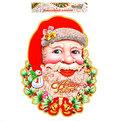 Плакат новогодний 68*52 см Дед Мороз с колокольчиками и снеговичком купить оптом и в розницу