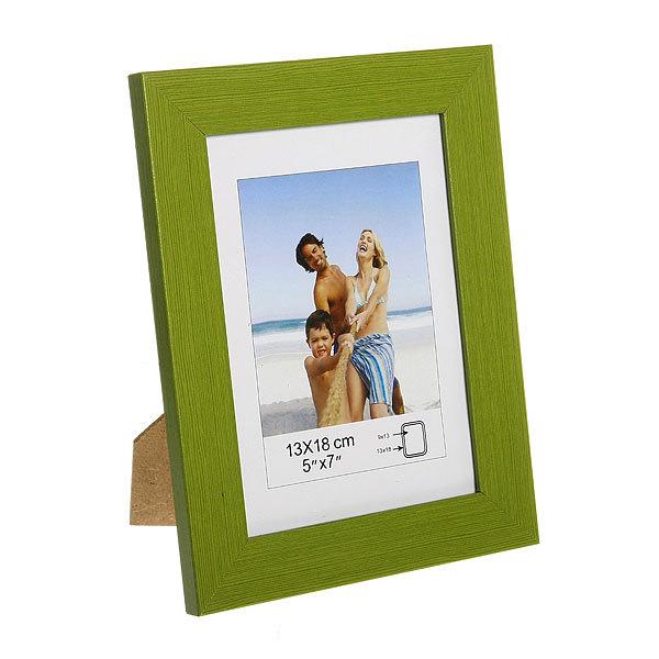 Фоторамка деревянная, зеленая , 13*18 см купить оптом и в розницу