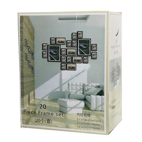 Фоторамка, Сет из 20 рамок, черные, 20 купить оптом и в розницу