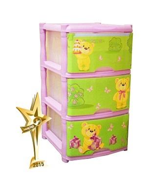 Детский комод для детской комнаты Bears Tutti 3 ящика лавандовый *1 купить оптом и в розницу