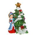 Свеча Новогодняя ″Снегурочка у Елочки″ 13*8см купить оптом и в розницу