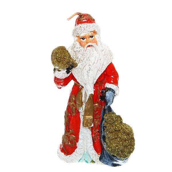 Свеча Новогодняя ″Дед Мороз с золотом″ 11,5*6см купить оптом и в розницу