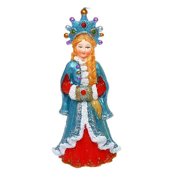 Свеча Новогодняя ″Снегурочка а короне″16*7,5см купить оптом и в розницу