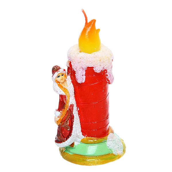 Свеча Новогодняя ″Снегурочка со свечой″ 10*5,5см купить оптом и в розницу