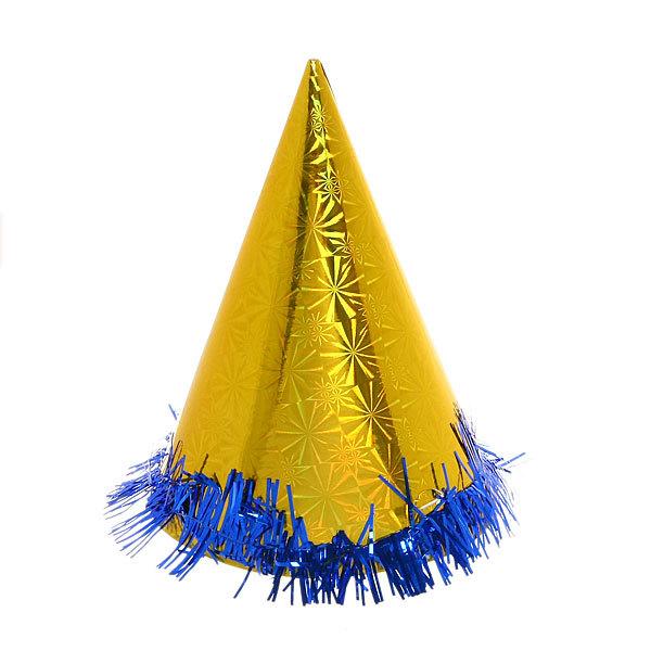 Колпак карнавальный ″Голограмма″ с мишурой 002 20см купить оптом и в розницу