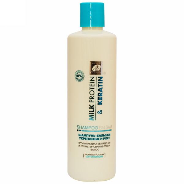 Шампунь-бальзам для волос MILK PROTEIN & KERATIN укрепление и рост 500 мл купить оптом и в розницу