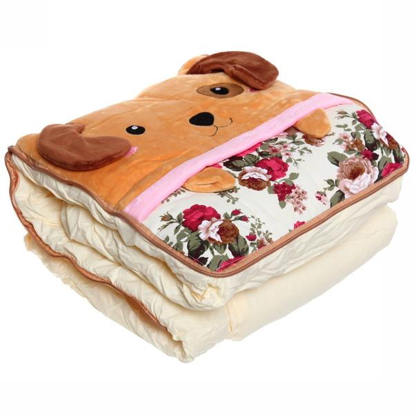 Подушка-одеяло автомобильная в дизайне, ворсовая ткань, размер одеяла 100*150см купить оптом и в розницу
