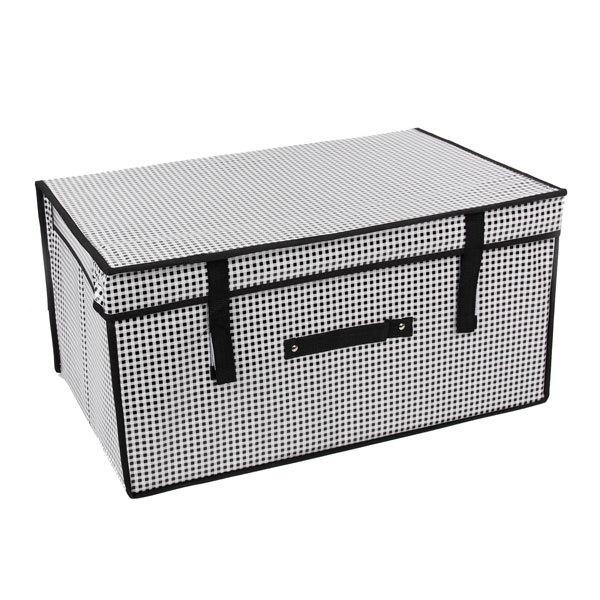 Коробка д/хранения вещей 60*40*30 ″Клетка″ купить оптом и в розницу