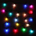 Гирлянда светодиодная 5м,20 ламп LED, Колокольчик, RGB( красный,зеленый,синий), авторежимы, черн.пров. купить оптом и в розницу