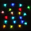 Гирлянда светодиодная 5м,20 ламп LED, Сосульки, RGB( красный,зеленый,синий), авторежимы, черн.пров. купить оптом и в розницу