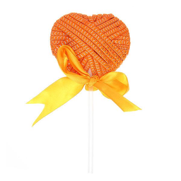 Резинка для волос ″Леденец″ 23шт оранжевый цв h-17 673-1 купить оптом и в розницу