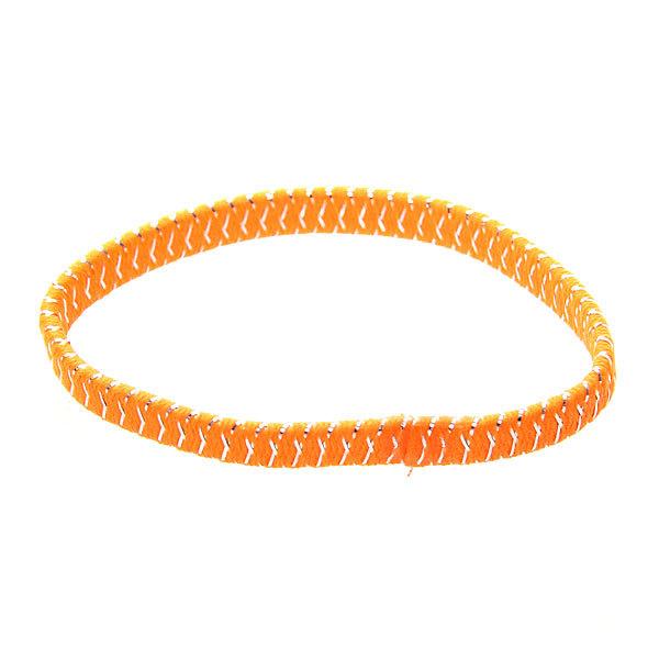 Резинка для волос 23шт ″Леденец″, цвет оранжевый h-17см купить оптом и в розницу
