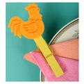 Набор украшений декоративных 11см Петушок на прищепке 6 шт арт.60830/132/22 купить оптом и в розницу
