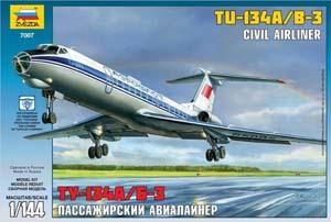 Сб.модель П7007 Авиалайнер Ту-134 А/Б-3 купить оптом и в розницу