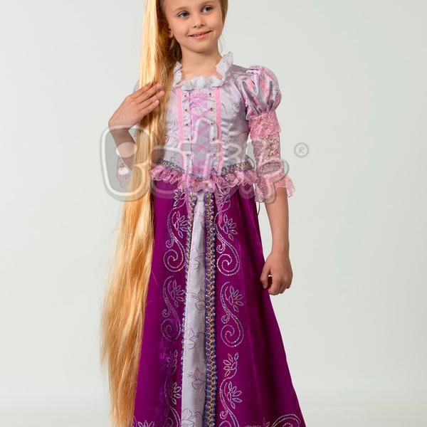 Карнавальный костюм ″Принцесса Рапунцель″ (платье, парк, брошь), размер 30 купить оптом и в розницу