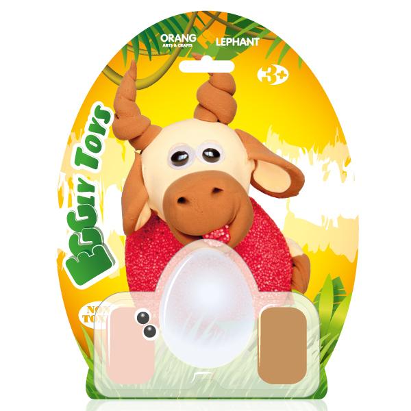 Набор ДТ Шариковый пластилин Буйвол застывающий 24082/OE-CBC/Cow купить оптом и в розницу