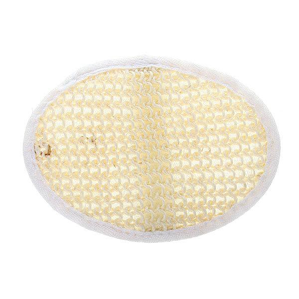 Мочалка для лица и тела комбинированная ″Овал″ с сизалем 13*8см купить оптом и в розницу