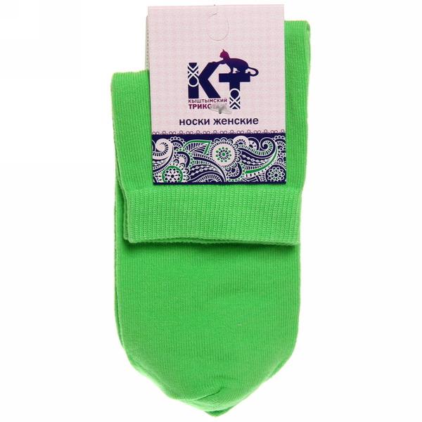 Носки женские Кыштымский трикотаж, цвет зеленый р. 25 купить оптом и в розницу