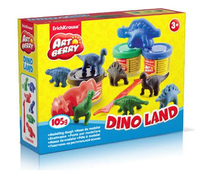 Пластилин  3 цв.35г на раст. основе Dino Land купить оптом и в розницу