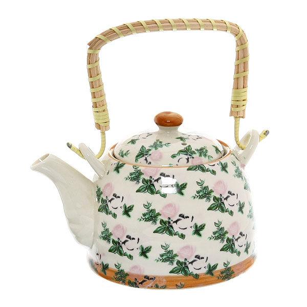 Чайник заварочный керамический 450 мл с ситом ″Розы″ 661-2 купить оптом и в розницу