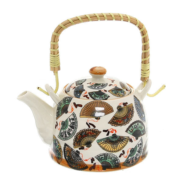 Чайник заварочный керамический 450 мл с ситом ″Веер″ 661-5 купить оптом и в розницу