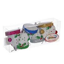 Ёлочные игрушки, набор 6 шт, 6см ″Новогодние колпачки″ купить оптом и в розницу