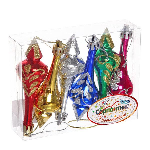 Ёлочные игрушки, набор 6шт, 9см ″Сосулька Новогодняя″ купить оптом и в розницу