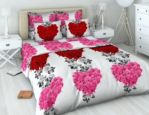 1,5 перкаль-люкс Veronica pink 3015/1 Хлопковый Край купить оптом и в розницу