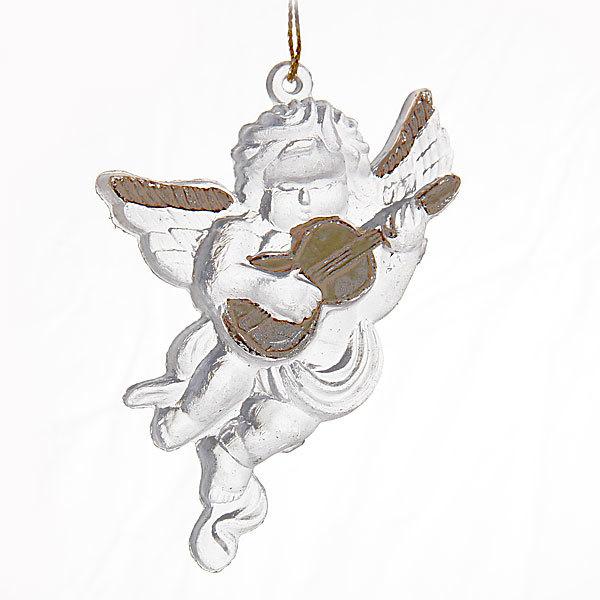 Ёлочные игрушки акриловые, набор 4 шт, 8*6см ″Ангел музыкант″ купить оптом и в розницу