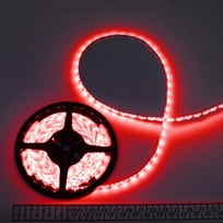 Лента светодиодная 5м*10мм, 60 ламп LED на 1м, красная,самоклейка,12В, степень защиты IP54 купить оптом и в розницу