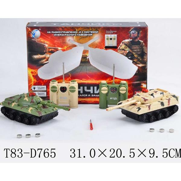 Танк р/у 2102-2В Танковый бой в кор. купить оптом и в розницу