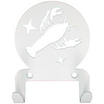 Крючок универсальный, серия ″Астрология″, модель ″Рак - 2″, цвет белый купить оптом и в розницу